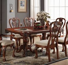 cherry wood dining room table poundex f2198 cherry wood dining table