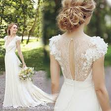 outdoor wedding dresses cheap bridal gowns white flowers lace outdoor wedding dresses