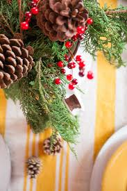 rustic log home christmas table using natural elements creative