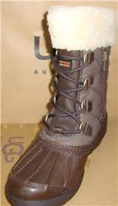 ugg australia emalie 1008017 black leather ankle waterproof ugg australia newberry brown waterproof leather quilted boots size 6
