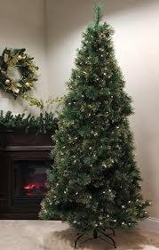 pre lit artificial christmas trees 7 5 pre lit slim tattinger needle pine artificial christmas