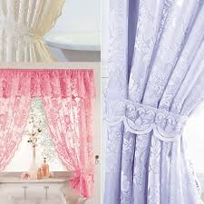 Frilly Shower Curtain Lace Shower Curtain Ebay