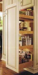 Kitchen Cabinet Pull Out Storage Tall Pull Out Two Sided Access Cabinet For Maximum Storage
