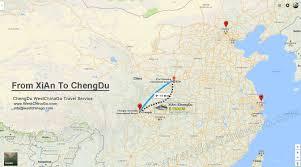 Pandas Map From Xian To Chengdu Archives China Chengdu Panda Holding