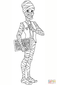 mr mummy coloring page free printable coloring pages