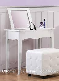 homelegance sparkle vanity desk w lift top mirror white 2004 15