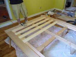 Make Wood Platform Bed by Bed Frame Diy Wood Platform Bed Frame Fifsswax Diy Wood Platform