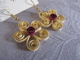 earrings paper paper flower earrings yellow handmade michigan