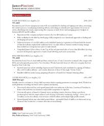music industry executive resume samples u0026 examples