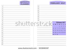 march 2017 calendar template monthly planner stock vector
