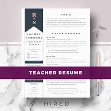Educational Resume Template Teacher Resume Template Archives Hired Design Studio