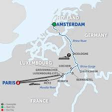 Europe Rivers Map by Europe River Cruise Offers Avalon Waterways