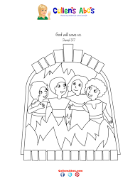 bible key point coloring page shadrach meshach and abednego