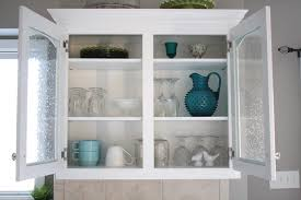 Glass Door Kitchen Wall Cabinets Beautiful Kitchen Wall Cabinets With Glass Doors On Seeded Glass