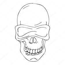 skull icon design background skull card banner logo skull poster