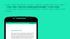 color themes for android android m introduces black status icons for light colored themes