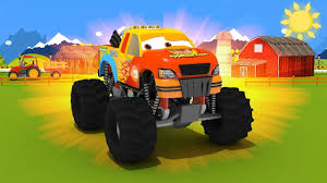 learn colors with oggy monster racing monster truck funny videos video for kids car games