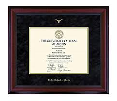 frame for diploma official exes of ut