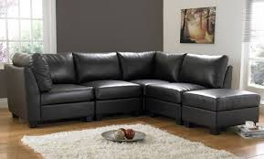 Havana Black Leather Corner Sofas Leather Sofa Land - Cornor sofas