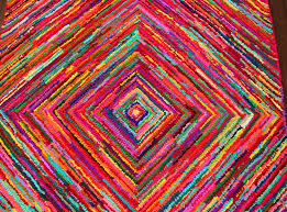 rugsville diamond handmade recycled chindi rug 5 u0027 x 8 u0027 rugsville