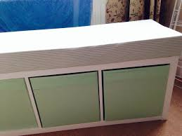 ikea kallax bookcase into a storage bench another maternity