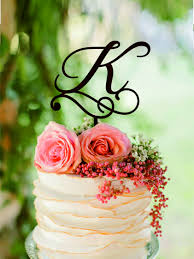 k cake topper k letter wedding cake toppers initial cake topper personalised