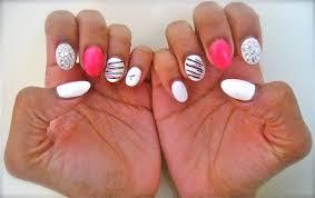metallic silver red rhinestone nails nailart design naïlêd ìt