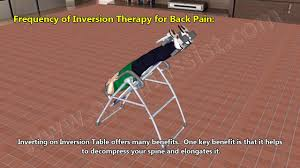 inversion therapy table benefits how does inversion therapy or hanging upside down help back pain