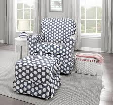 amazon com stork craft polka dot upholstered swivel glider