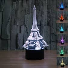 aliexpress com buy creative eiffel tower 3d bedside table lamp 7