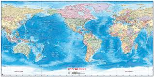 Antarctica World Map by World Political Wall Map By Compart Maps