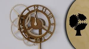 Free Wooden Gear Clock Plans Download by Rotara Holzuhr Wooden Clock Youtube