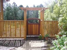 epic garden decoration ideas using solid wood timber garden fence