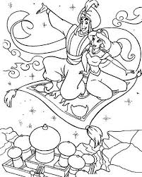 aladdin showing jasmine agrabah coloring