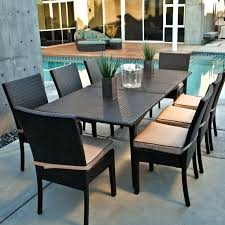 Patio Table And Chairs Set Patio Furniture Table And Chairs Black Rectangle Modern Rattan