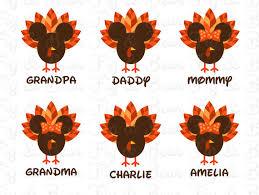 disney family thanksgiving t shirts iron ons transfers