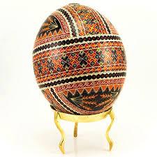 ukrainian egg center decorated ukrainian design goose egg