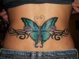 free tr st st tattoos butterflies back