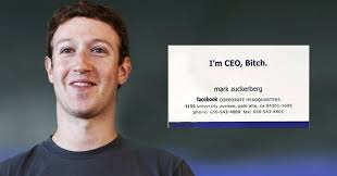 Business Card For Ceo Do You Know The Story Behind Mark Zuckerberg U0027s