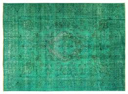 new tebriz irani persian mint green overdyed hand knotted wool rug