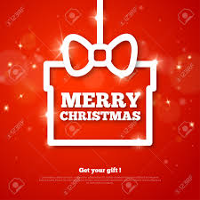 gift with merry greetings vector illustration happy