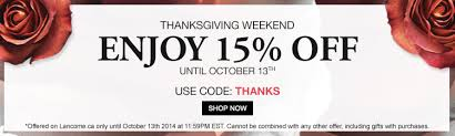 lancome canada promo code save 15 your order for