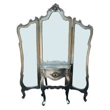 silver antique shabby chic full length 3 panel mirror dressing