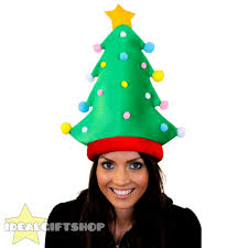 christmas tree hat adults christmas hats presents fillers fancy dress
