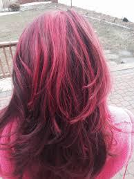 red brown long angled bobs dark brown with pink highlights and angled bob yelp brown hair