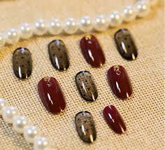 popular red black nail designs buy cheap red black nail designs