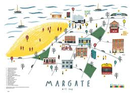 Margate Florida Map by Illustrated Art Map Of My Home Town Margate Design