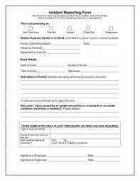 generic incident report template incident report form template hunecompany