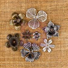 metal flowers prima sunset collection mechanicals vintage trinkets