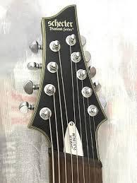 9 string fanned fret schecter damien fanned fret 9 string prototype multiscale reverb